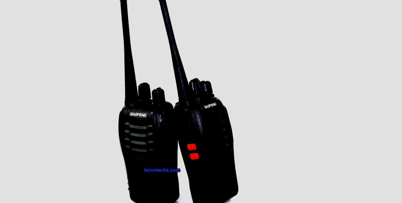 Walkie-talkies for a hike