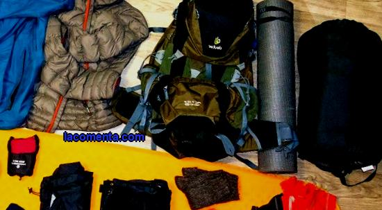 Types and classification of tourist equipment, camping equipment